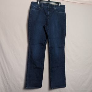NYDJ Marilyn Straight Cooper Dark Wash Jeans
